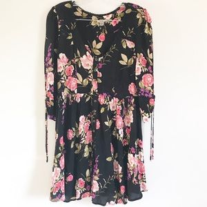 Urban Outfitters Ecote Black Floral Dress M